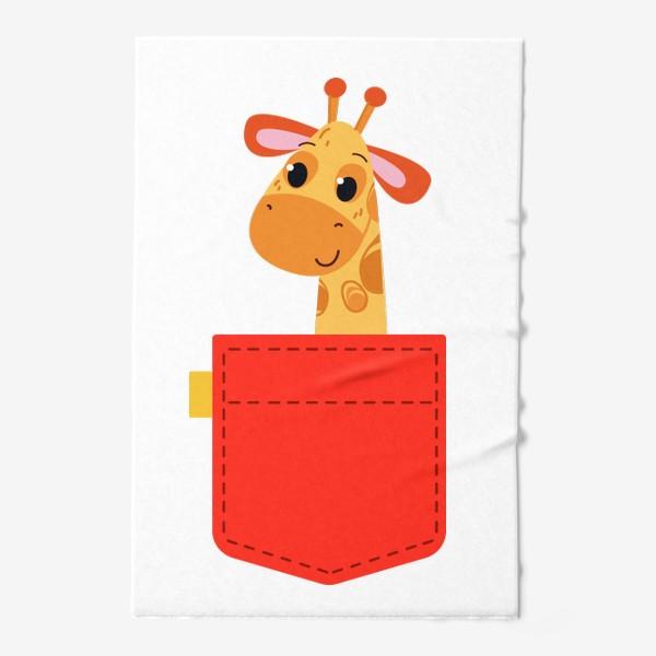 Полотенце «Красный карман с жирофом»