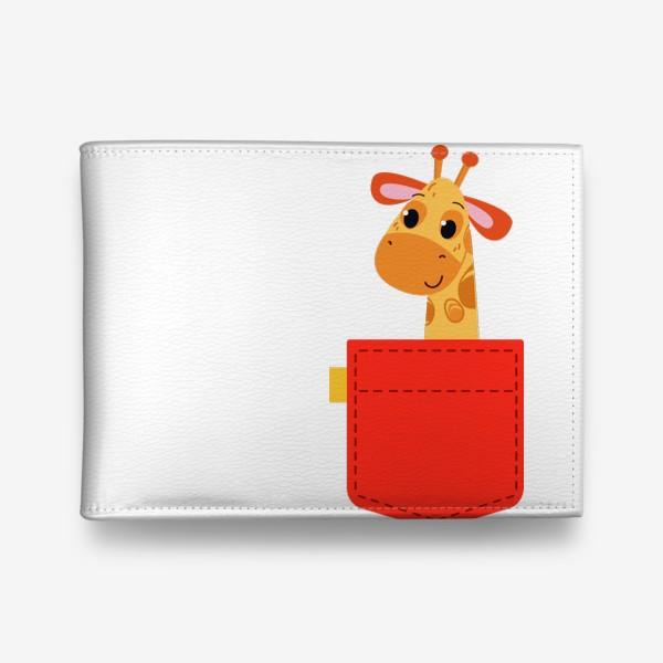 Кошелек «Красный карман с жирофом»
