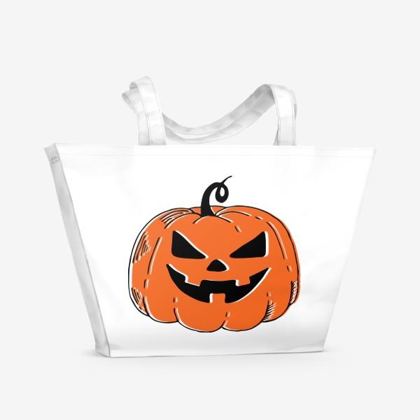 Пляжная сумка «Злая тыква»