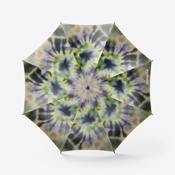 Зонт «Батик синий и зелёный квадрат. Брызги цвета»