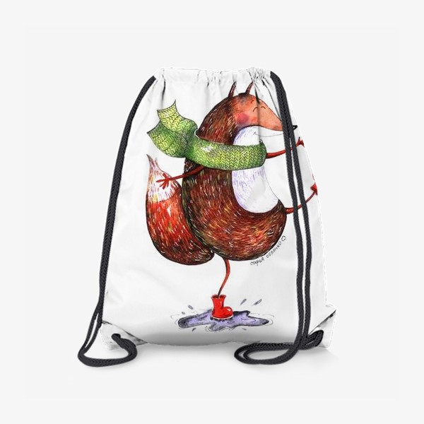 Рюкзак «Лисенок в шарфике»