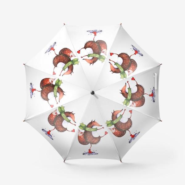 Зонт «Лисенок в шарфике»
