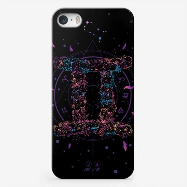 Чехол iPhone «Цветочный Знак Зодиака Близнецы»