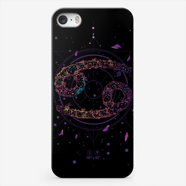 Чехол iPhone «Цветочный Знак Зодиака Рак»