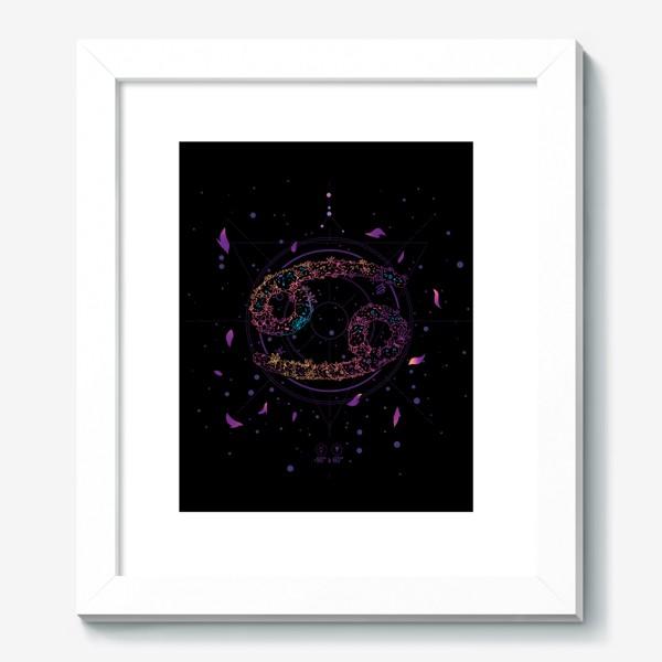 Картина «Цветочный Знак Зодиака Рак»