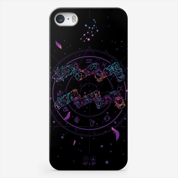 Чехол iPhone «Цветочный Знак Зодиака Водолей»