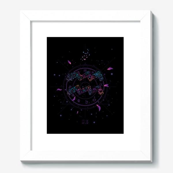 Картина «Цветочный Знак Зодиака Водолей»