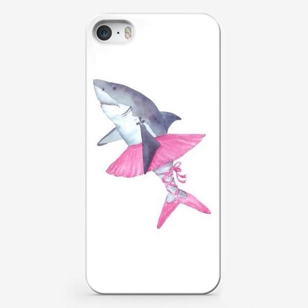 Чехол iPhone «Акула балерина в розовой пачке и пуантах»