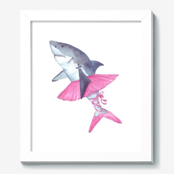 Картина «Акула балерина в розовой пачке и пуантах»