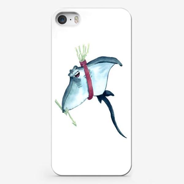 Чехол iPhone «Скат с молниями - стрелами и колчаном»