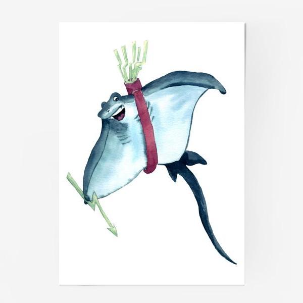Постер «Скат с молниями - стрелами и колчаном»