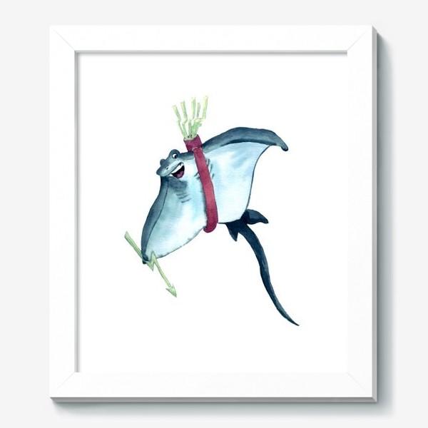 Картина «Скат с молниями - стрелами и колчаном»