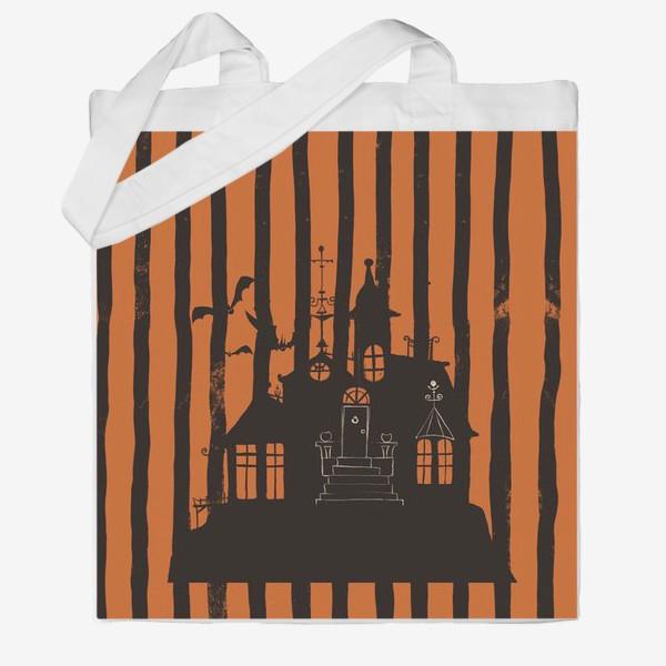 Сумка хб «Хэллоуин, замок»