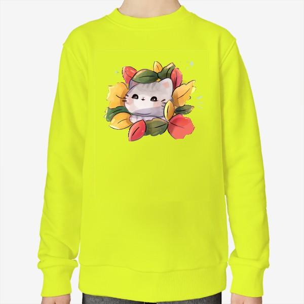 Свитшот «Котики любят осень»