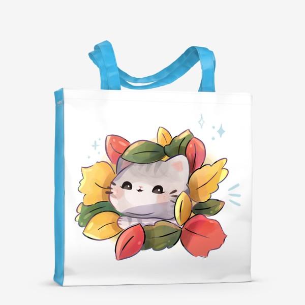 Сумка-шоппер «Котики любят осень»
