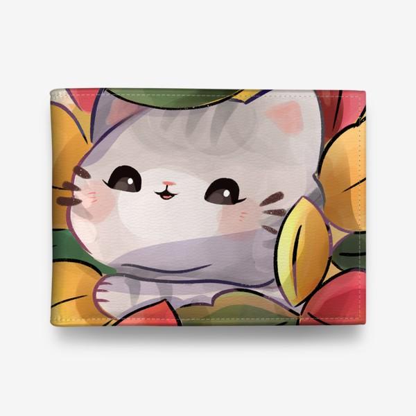 Кошелек «Котики любят осень»