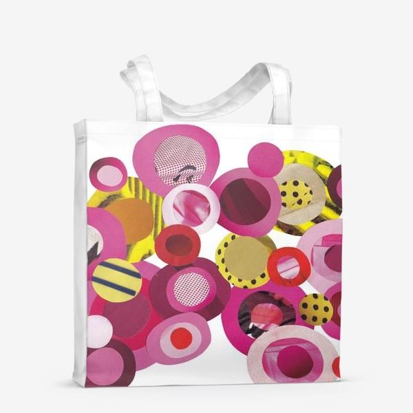 Сумка-шоппер «Розовая абстракция»