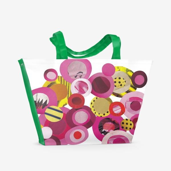 Пляжная сумка «Розовая абстракция»