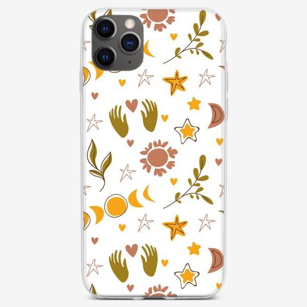 Чехол iPhone «Бесшовный паттерн с магичискими символами»