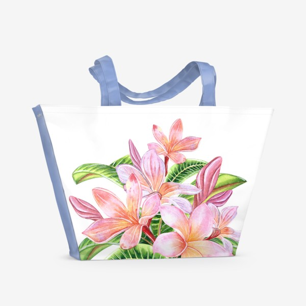 Пляжная сумка «Плюмерии»