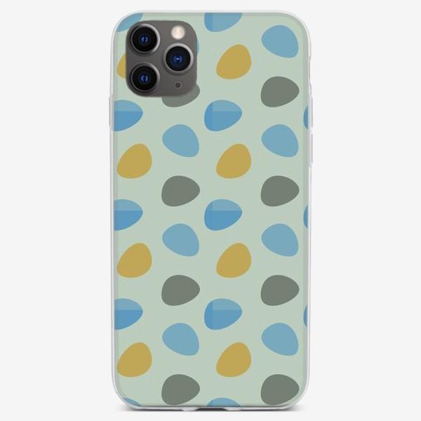 Чехол iPhone «Бесшовный паттерн с разноцветными пятнами»
