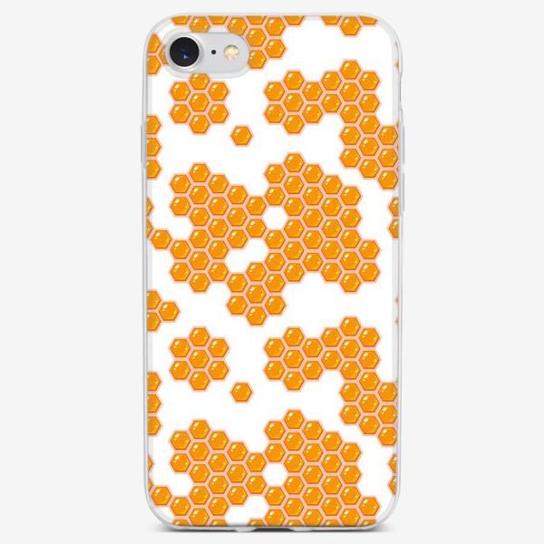 Чехол iPhone «Бесшовный паттерн с медовыми сотами»