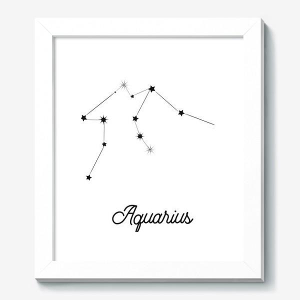 Картина «Водолей. Знак зодиака, созвездие, минимализм»