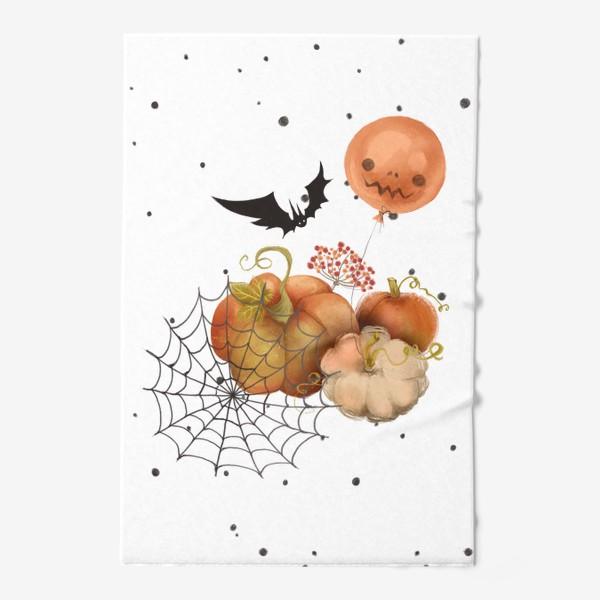 Полотенце «Хэллоуин, тыква»