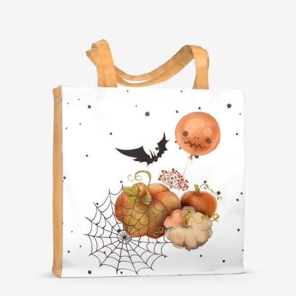 Сумка-шоппер «Хэллоуин, тыква»