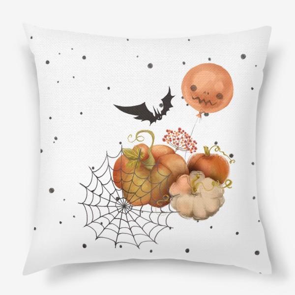 Подушка «Хэллоуин, тыква»