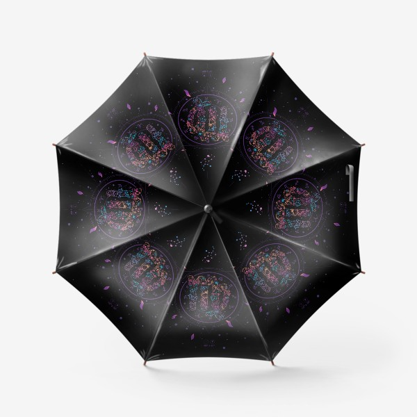 Зонт «Цветочный Знак Зодиака Дева»