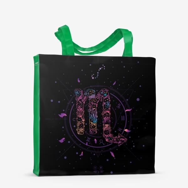 Сумка-шоппер «Цветочный Знак Зодиака Скорпион»