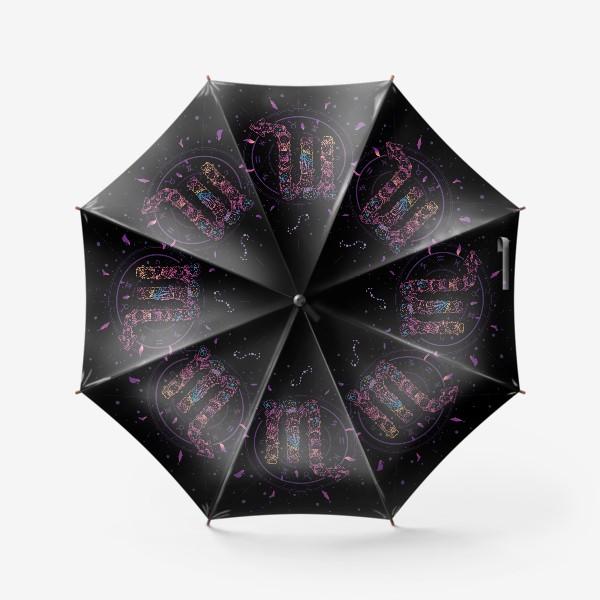 Зонт «Цветочный Знак Зодиака Скорпион»