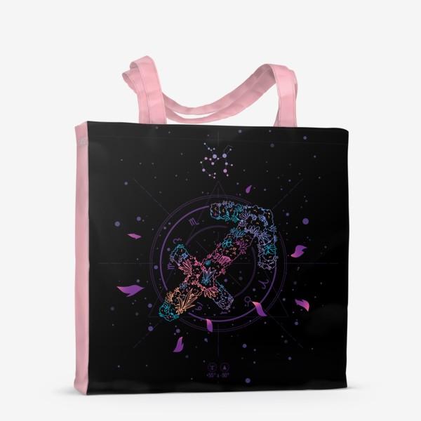 Сумка-шоппер «Цветочный Знак Зодиака Стрелец»