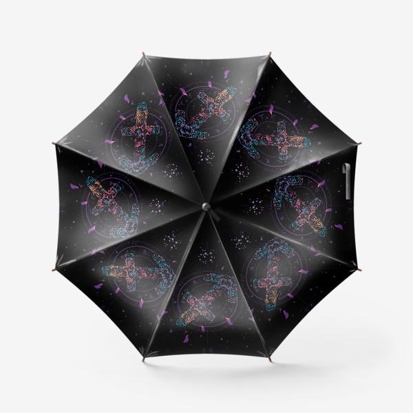 Зонт «Цветочный Знак Зодиака Стрелец»