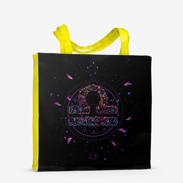Сумка-шоппер «Цветочный Знак Зодиака Весы»