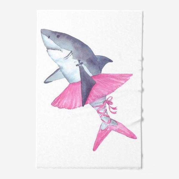 Полотенце «Акула балерина в розовой пачке и пуантах»