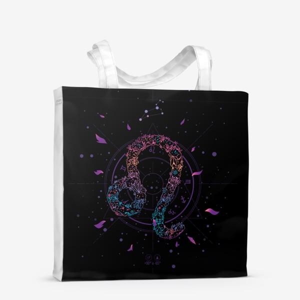 Сумка-шоппер «Цветочный Знак Зодиака Лев»