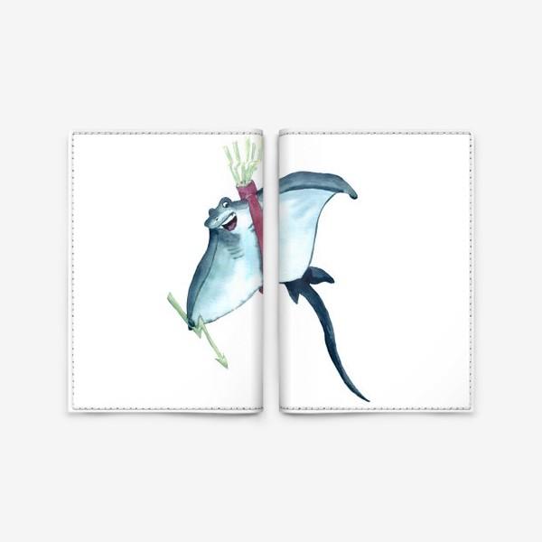 Обложка для паспорта «Скат с молниями - стрелами и колчаном»