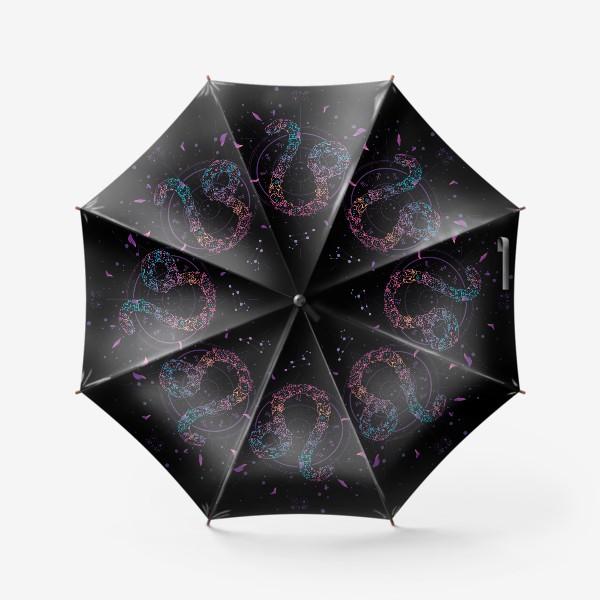 Зонт «Цветочный Знак Зодиака Лев»