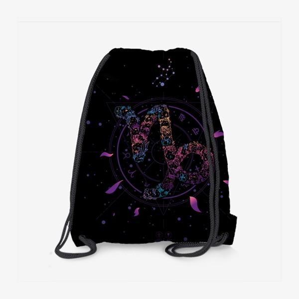 Рюкзак «Цветочный Знак Зодиака Козерог»