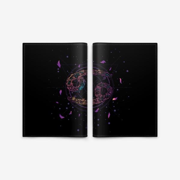Обложка для паспорта «Цветочный Знак Зодиака Рак»