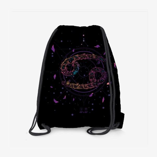 Рюкзак «Цветочный Знак Зодиака Рак»