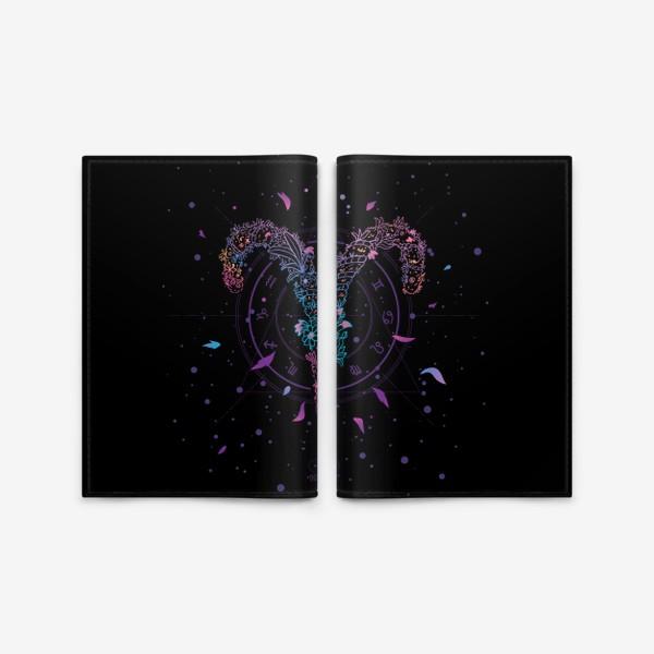 Обложка для паспорта «Цветочный Знак Зодиака Овен»