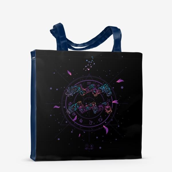 Сумка-шоппер «Цветочный Знак Зодиака Водолей»