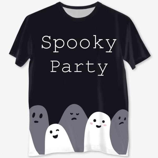 Футболка с полной запечаткой «Пугающая вечеринка/spooky party»