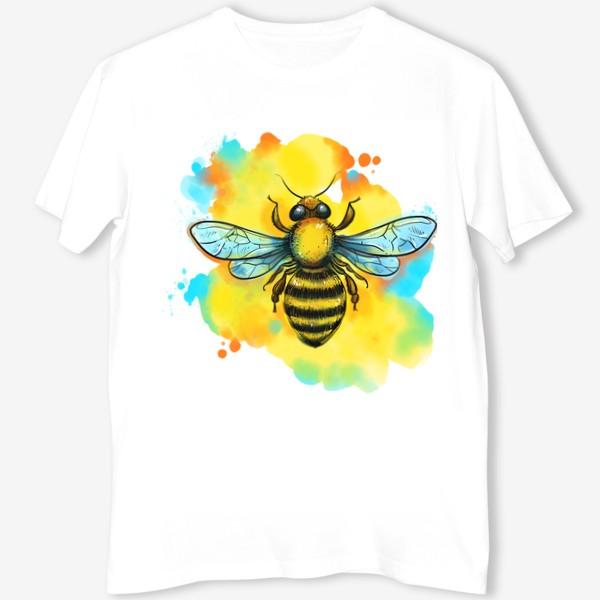 Футболка «пчела. акварельная пчелка»
