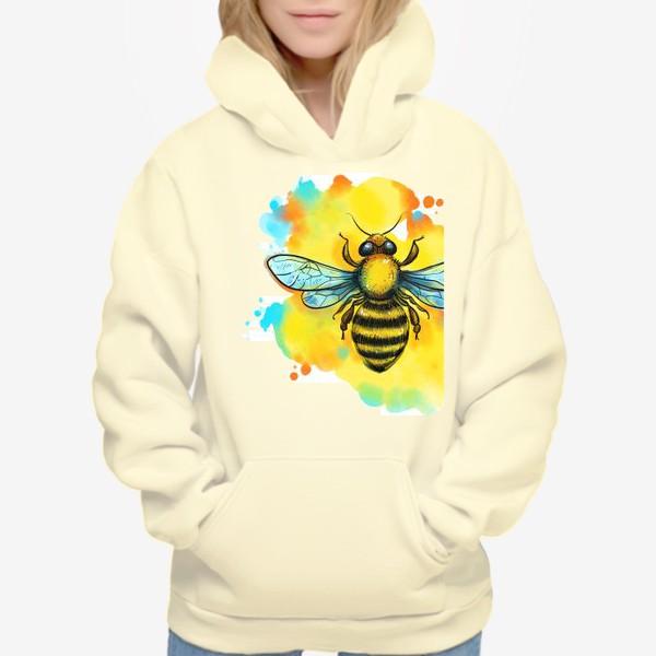 Худи «пчела. акварельная пчелка»