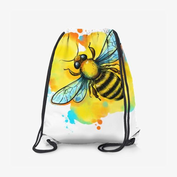 Рюкзак «пчела. акварельная пчелка»