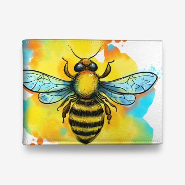 Кошелек «пчела. акварельная пчелка»